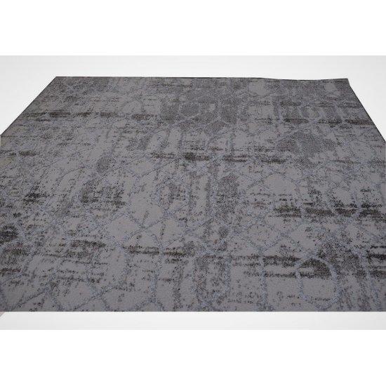 Modern Puffy Wool Grey and Grey 5x7.5